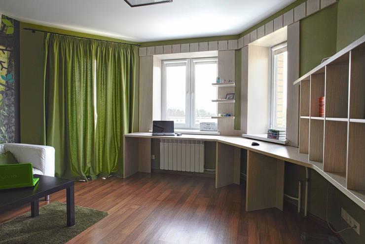 Двухуровневая квартира по ул.Карельская: Рабочие кабинеты в . Автор – Галина Глебова