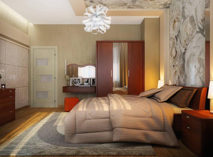 Проект 3х комнатной квартиры в Харькове: Спальни в . Автор – Инна Михайская