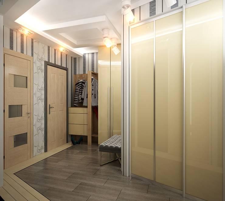 Проект 3х комнатной квартиры в Харькове: Коридор и прихожая в . Автор – Инна Михайская