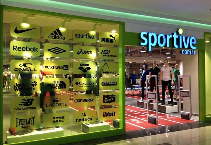 ARTSA MİMARLIK – sportive:  tarz Ofisler ve Mağazalar