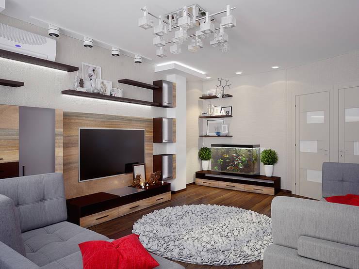 Проект 3х комнатной квартиры в Харькове: Гостиная в . Автор – Инна Михайская