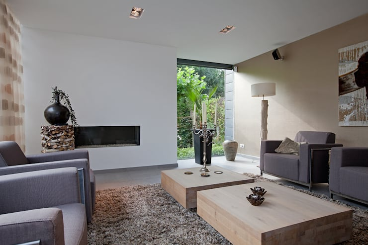 Projekty,  Salon zaprojektowane przez Hans Been Architecten BNA BV