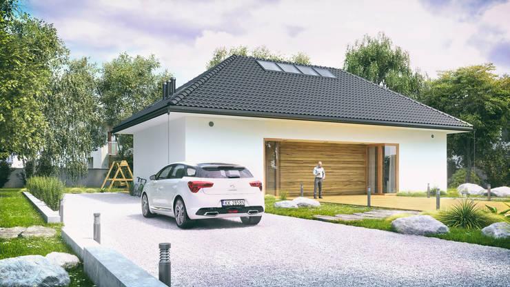 Optymalny standard #1: styl , w kategorii Domy zaprojektowany przez INDEA