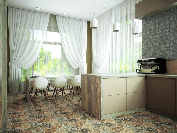 Проект шале в Белгороде: Столовые комнаты в . Автор – Инна Михайская