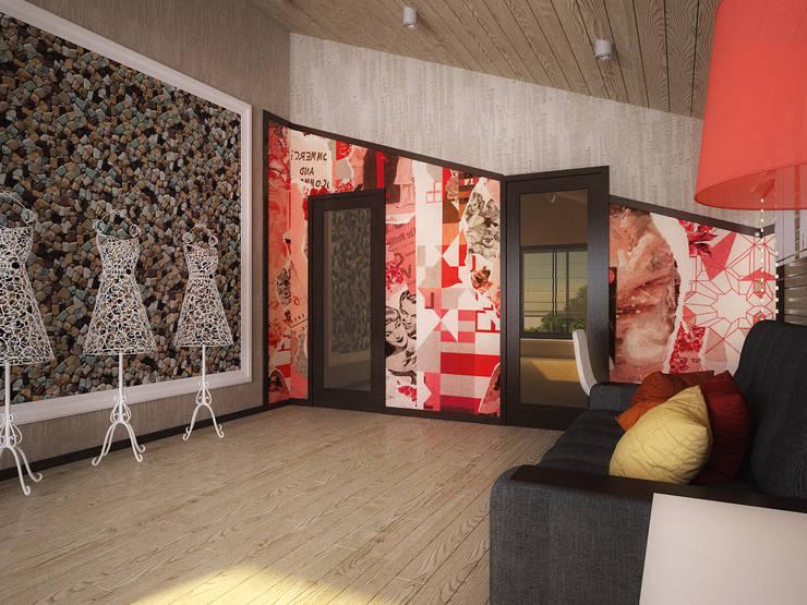 Проект шале в Белгороде: Рабочие кабинеты в . Автор – Инна Михайская
