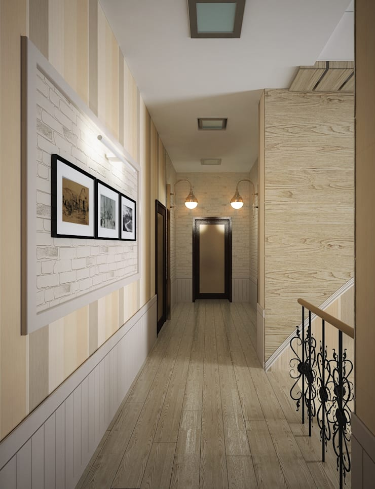 Проект шале в Белгороде: Коридор и прихожая в . Автор – Инна Михайская