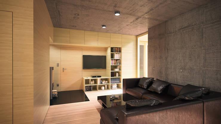 Optymalny comfort (aranżacja #2): styl , w kategorii Salon zaprojektowany przez INDEA