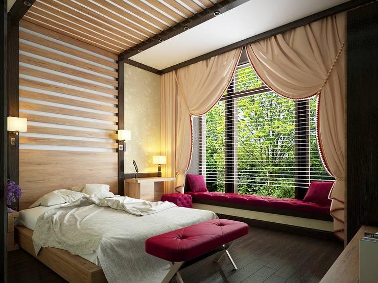 Projekty,  Sypialnia zaprojektowane przez Инна Михайская