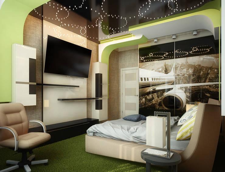Проект 4х комнатной квартиры: Спальни в . Автор – Инна Михайская