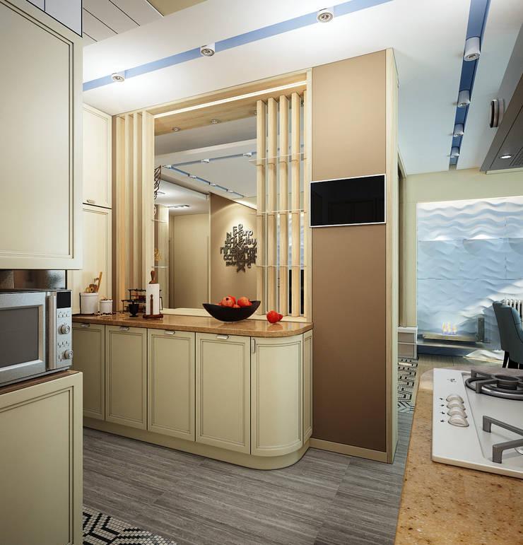 Проект 4х комнатной квартиры: Кухни в . Автор – Инна Михайская