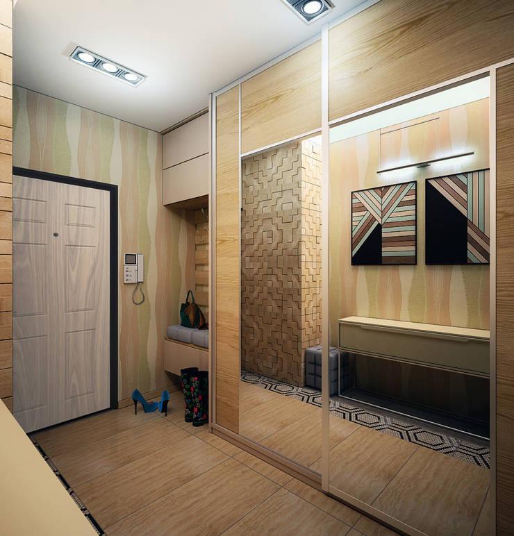 Проект 4х комнатной квартиры: Коридор и прихожая в . Автор – Инна Михайская