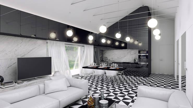 Dostępny prado (aranżacja #1): styl , w kategorii Salon zaprojektowany przez INDEA,