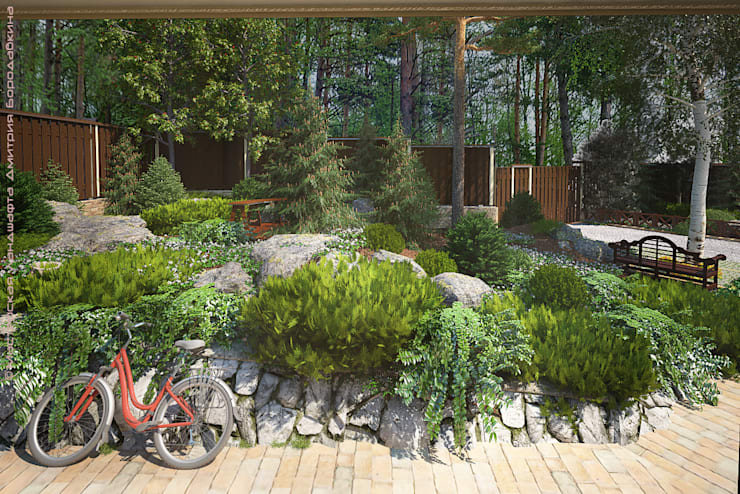 Country style gardens by Мастерская ландшафта Дмитрия Бородавкина Country