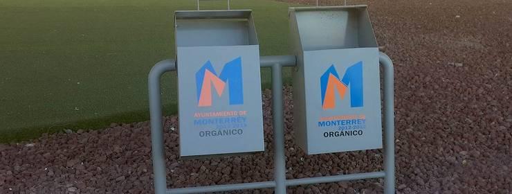 Botes de Basura para Monterrey: Terrazas de estilo  por Nacional de Bancas