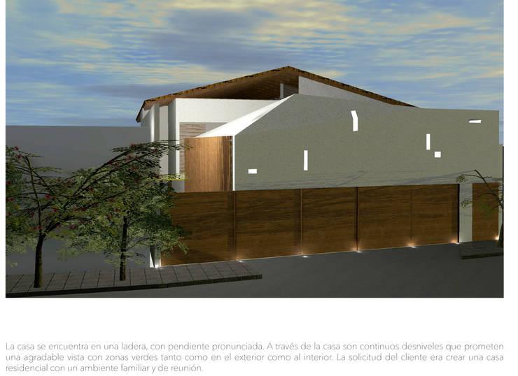 Casa Ladera: Casas de estilo  por Colectivo IA02