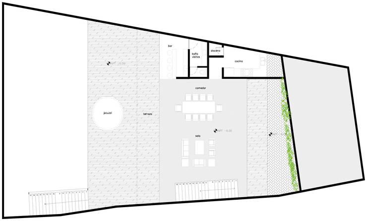 Casa Valle: Casas de estilo  por Colectivo IA02