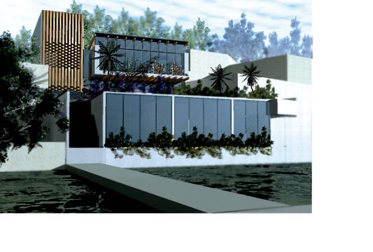 Casa Molina: Casas de estilo  por Colectivo IA02