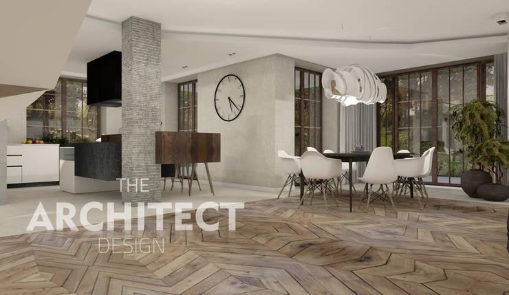 Aranżacja wnętrza http://thearchitect.pl: styl , w kategorii Salon zaprojektowany przez THE ARCHITECT DESIGN ,Nowoczesny