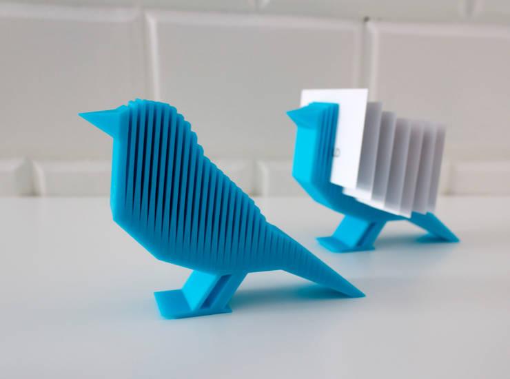3D printed bird notes holder: styl , w kategorii Domowe biuro i gabinet zaprojektowany przez Formsfield
