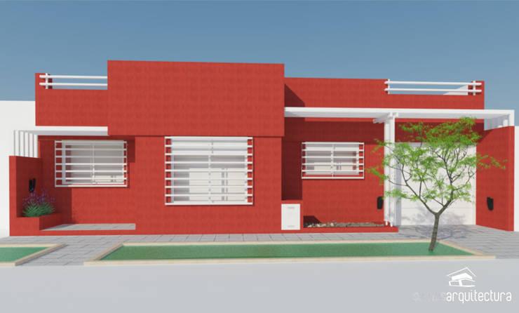 Diseño de fachada en vivienda:  de estilo  por Somos Arquitectura