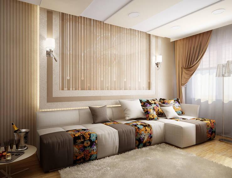 Проект 2х комнатной квартиры: Гостиная в . Автор – Инна Михайская