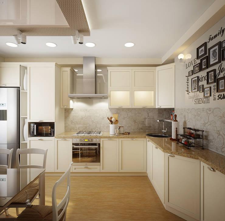 Проект 2х комнатной квартиры: Кухни в . Автор – Инна Михайская