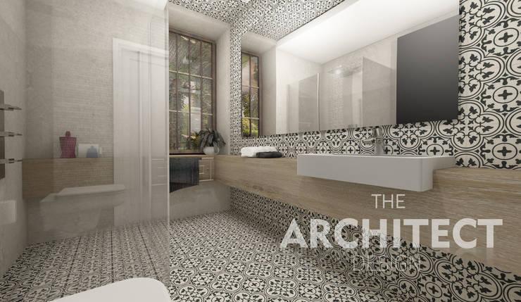 Projekt łazienki  http://thearchitect.pl: styl , w kategorii Łazienka zaprojektowany przez THE ARCHITECT DESIGN