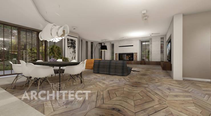 projekt salonu: styl , w kategorii Salon zaprojektowany przez THE ARCHITECT DESIGN