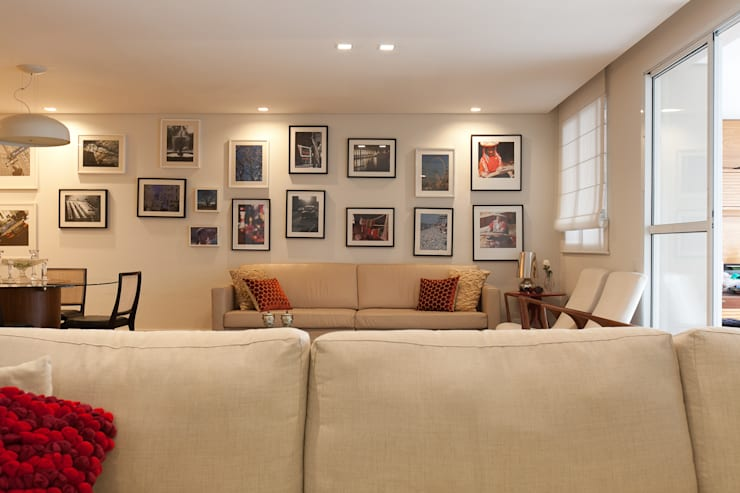 Salas de estilo  por Arquitetura Juliana Fabrizzi