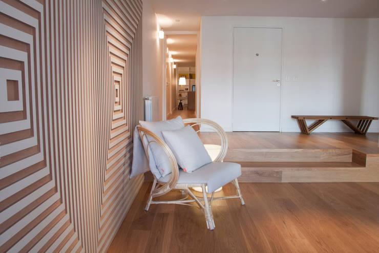 Living room by Paula Herrero | Arquitectura, Modern Wood Wood effect