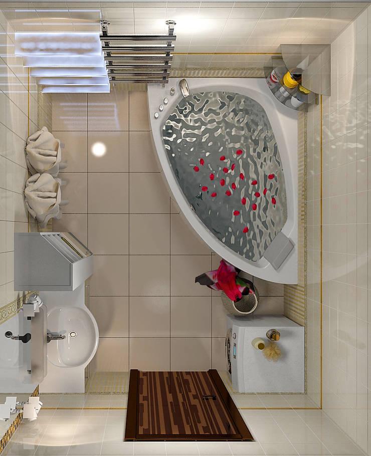 Проект 4х комнатной квартиры: Ванные комнаты в . Автор – Инна Михайская