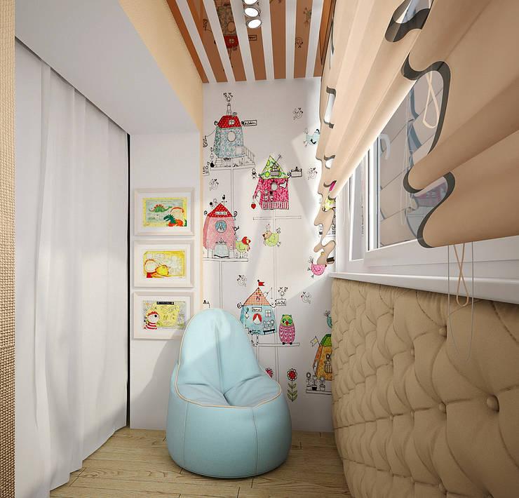 Проект 4х комнатной квартиры: Tерраса в . Автор – Инна Михайская