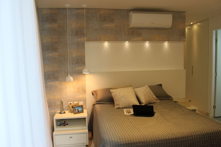 Apartamento em Boa Viagem com 100m²: Quartos  por MA arquitetura