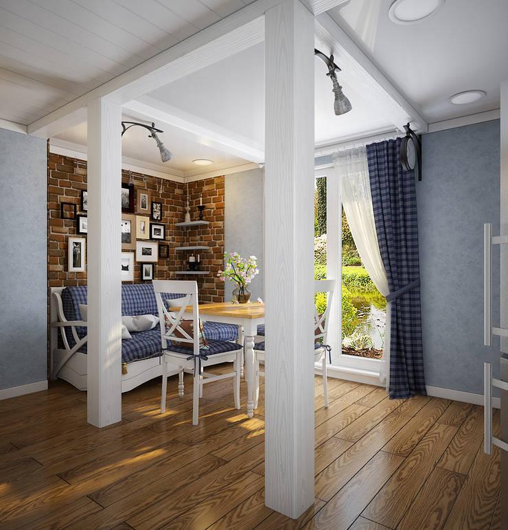 Проект гостевого домика : Столовые комнаты в . Автор – Инна Михайская