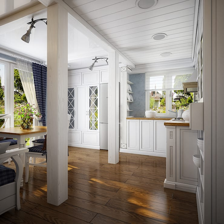 Проект гостевого домика : Кухни в . Автор – Инна Михайская