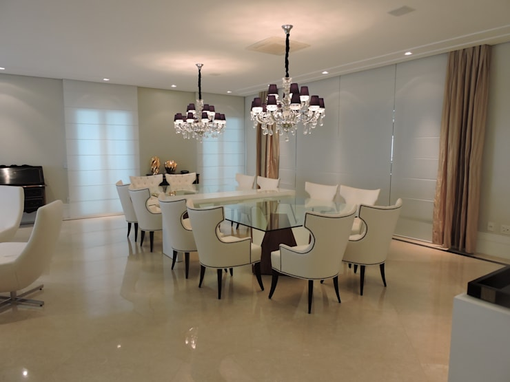 Sala de Jantar: Salas de jantar clássicas por PL ARQUITETURA