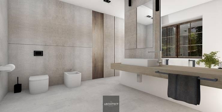 Projekty wnętrz http://Thearchitect.pl: styl , w kategorii Łazienka zaprojektowany przez THE ARCHITECT DESIGN