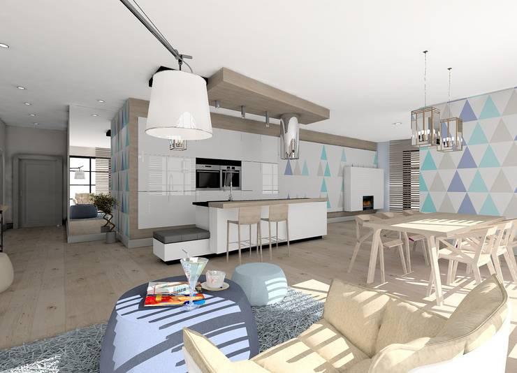 Kuchnia z salonem: styl , w kategorii  zaprojektowany przez project art