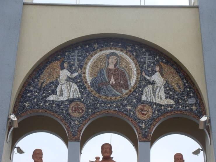 Paineis em mosaico Casas clássicas por Mosaico Leonardo Posenato Clássico
