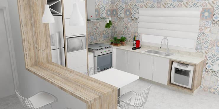 Cozinha Americana: Cozinhas ecléticas por Arquiteto Virtual - Projetos On lIne