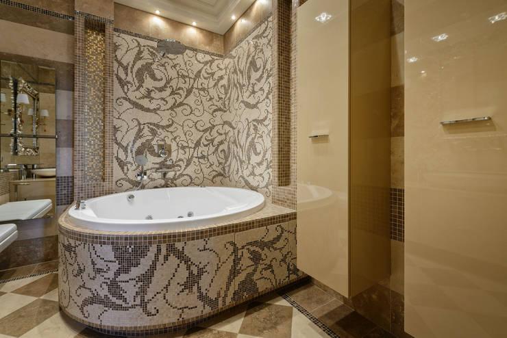Ванная комната в квартире на Якиманке: Ванные комнаты в . Автор – Дизайн-студия «ARTof3L»