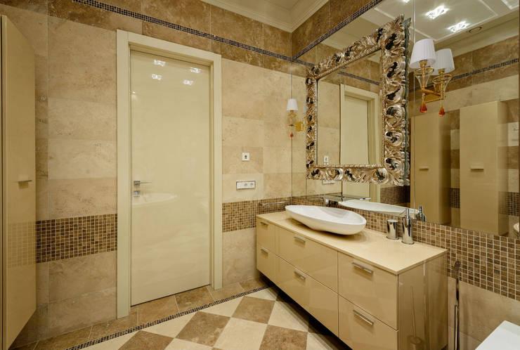 Ванная комната в квартире на Якиманке : Ванные комнаты в . Автор – Дизайн-студия «ARTof3L»