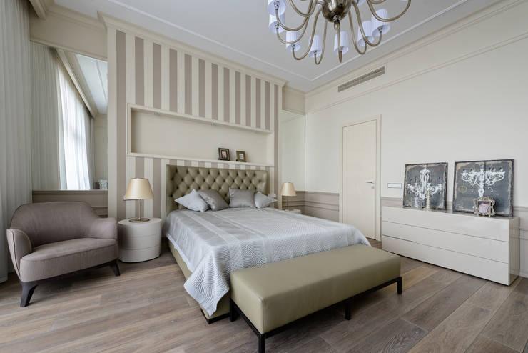 Спальня в квартире на Якиманке: Спальни в . Автор – Дизайн-студия «ARTof3L»