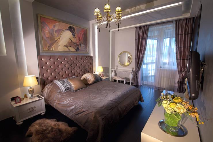 Спальня в  квартире на Смоленской: Спальни в . Автор – Дизайн-студия «ARTof3L»