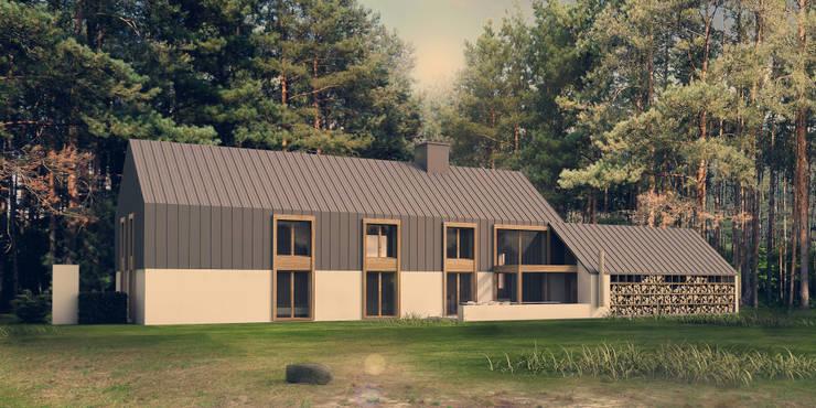 DOM Z CENTRUM JOGI : styl , w kategorii Domy zaprojektowany przez KOZIEJ ARCHITEKCI