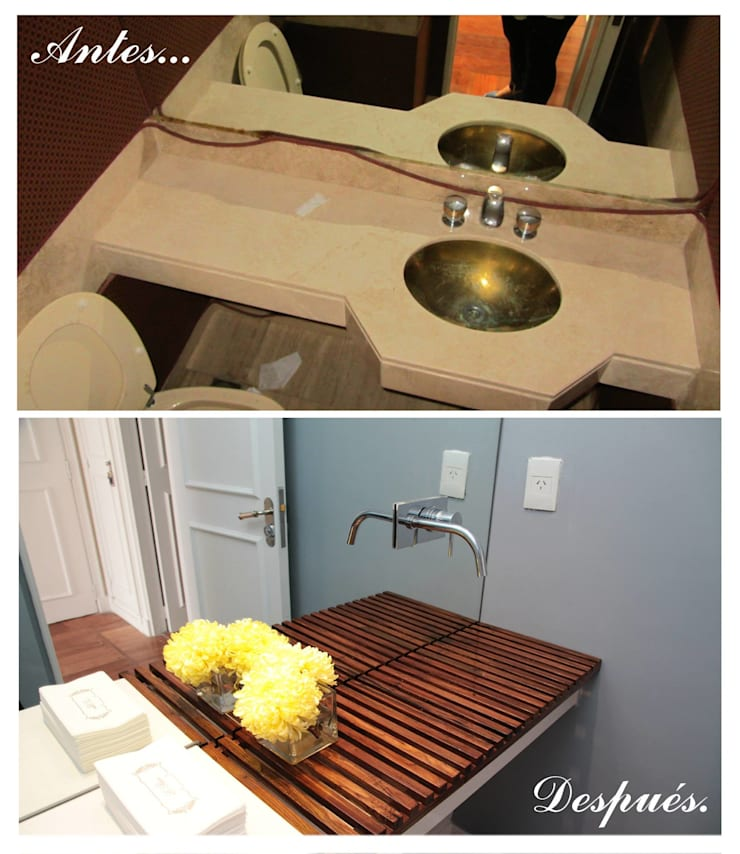 Baño de visitas:  de estilo  por Indinaco srl Construcciones y servicios