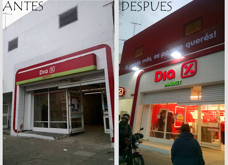 Reforma Integral Supermercadista:  de estilo  por Indinaco srl Construcciones y servicios