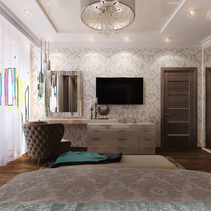 Спальня и кабинет - Интересные идеи в стиле Арт Деко: Гостиная в . Автор – Студия дизайна Interior Design IDEAS