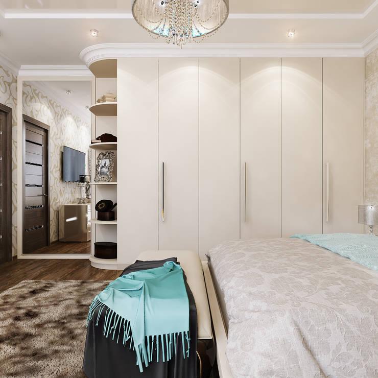 Спальня и кабинет - Интересные идеи в стиле Арт Деко: Гостиная в . Автор – Студия дизайна Interior Design IDEAS,