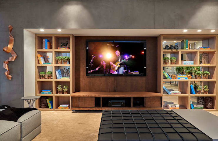 Decora Lider Campinas - Home theater: Salas de estar  por Lider Interiores,